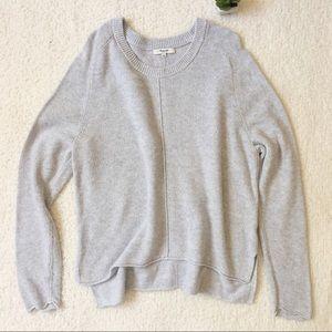 Madewell Grey Crew Neck Sweater Size L